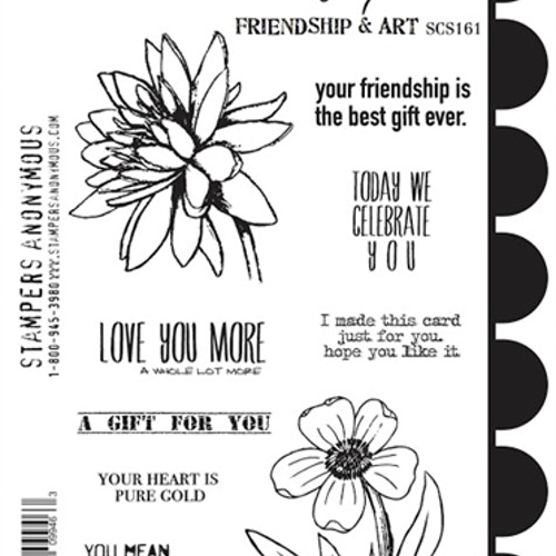 Stampers Anonymous, Wendy Vecchi Cling Stamps - Friendship & Art