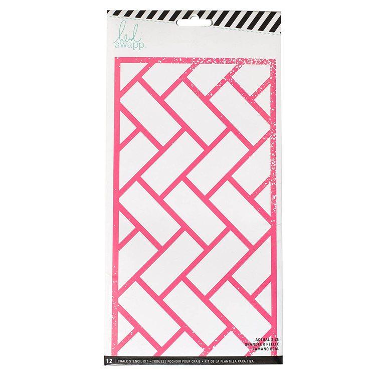 """Heidi Swapp, chalk stencil kit - 12 masker 10,5""""x5,5"""""""
