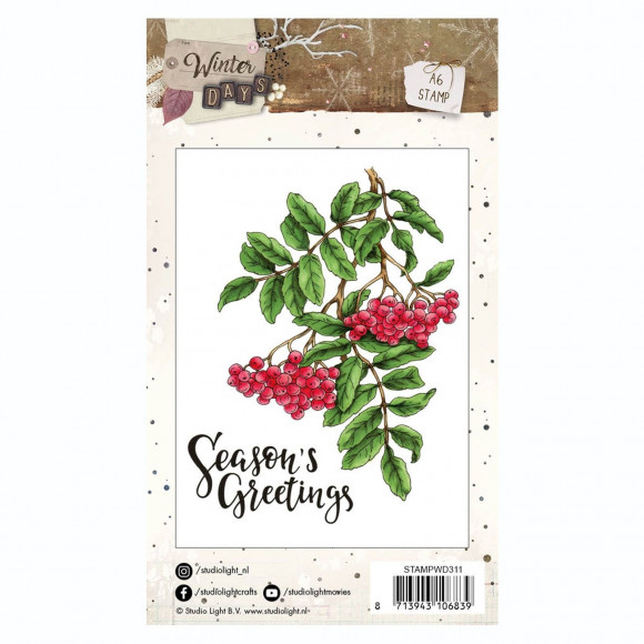 Studio Light Clearstamp STAMPWD311 Seeson's greetings