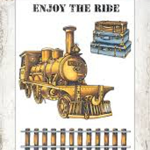 Studio Light Clearstamp STAMPIN252 Enjoy the ride