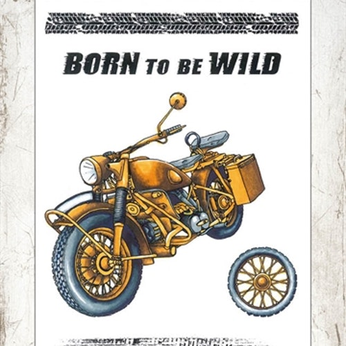 Studio Light Clearstamp STAMPIN253 Born to be wild