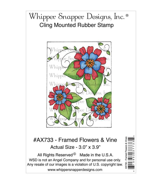 Whipper snapper rubber stamp - Framed Flowers & Wine
