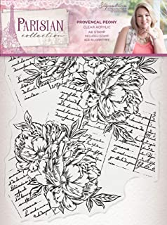 Crafter's companion clear stamp - Provencal Peony