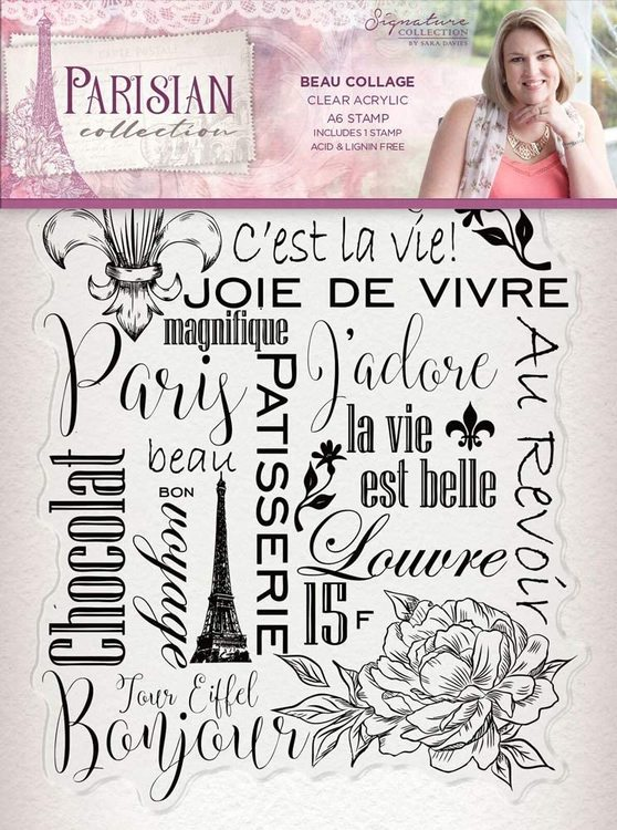 Crafter's companion clear stamp - Beau Collage