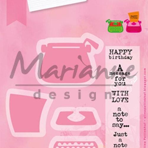 Marianne Design Die - collectables - Typewriter