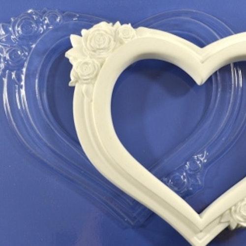 Plastic form, ProSvet, ARTPMD0004 Hjärtformad Ram 160x135 mm