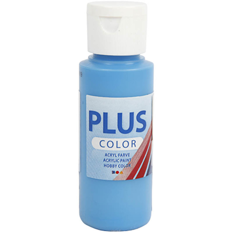 Plus Color hobbyfärg, ocean blue, 60ml