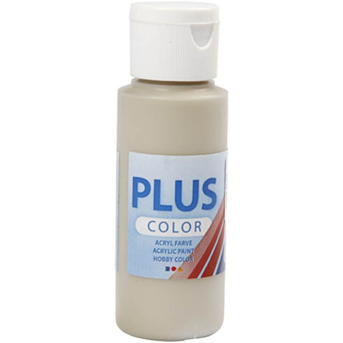 Plus Color hobbyfärg, stone beige, 60ml