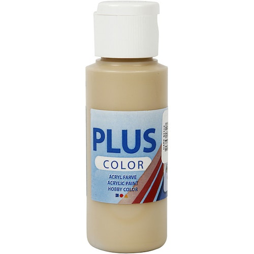 Plus Color hobbyfärg, dark beige, 60ml