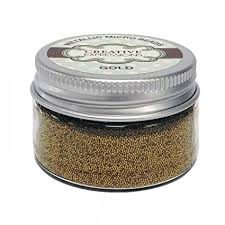 Creative expressions micro beads, guld