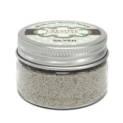 Creative expressions micro beads, silver