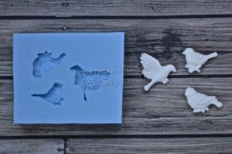 ProSvet Silikonform, 3 fåglar, mini
