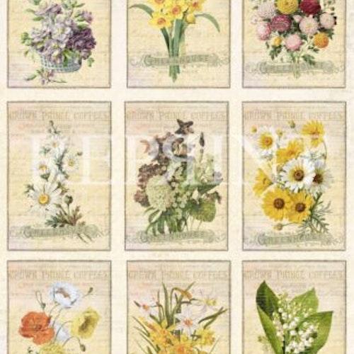 Klippark Reprint kp0059 cotouts flowers