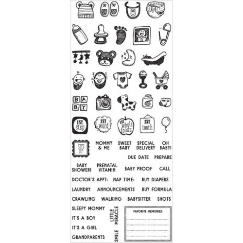 Clearstamps, mini icons Baby 591588