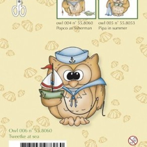 Clear stamp Leane, Owlies - tweetke at sea