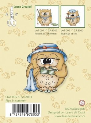 Clear stamp Leane, Owlies - pipa in summer