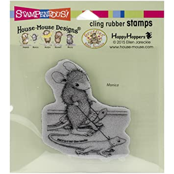 Cling rubber stamp, house mouse hmcv18