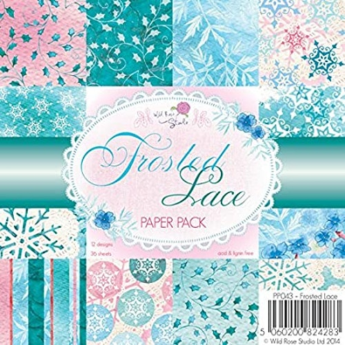paper pad 6x6 - Frosted lace