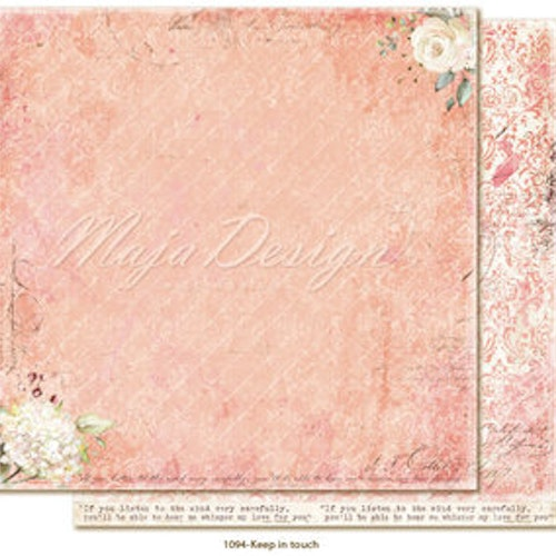 "Maja Design12""x12"" Miles Apart - Keep in touch"