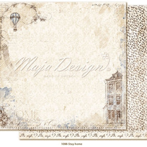 "Maja Design12""x12"" Miles Apart - Stay home"