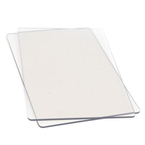 655093 Sizzix Cutting Pads1 Pair - Standard clear