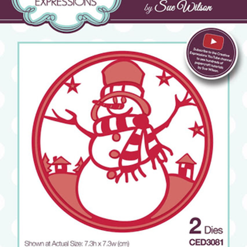 Creative Expressions Die, CED3081, snowman round