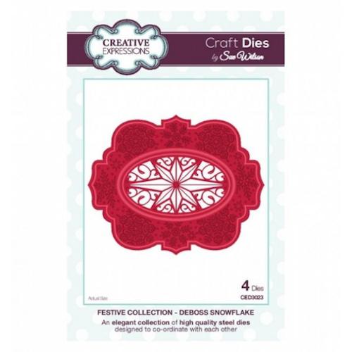Creative Expressions Die, CED3023, deboss snowflake