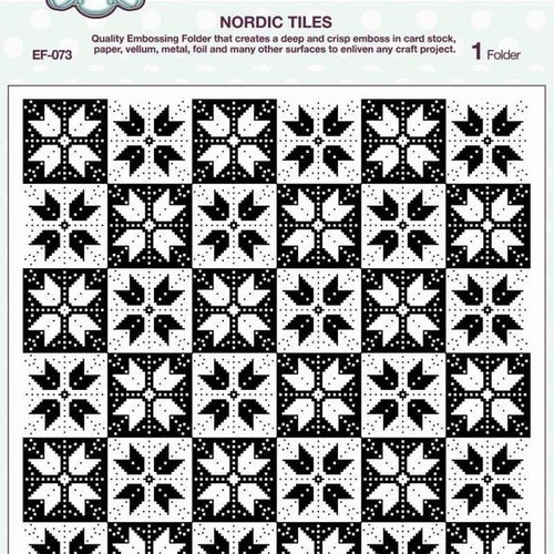 Creative Expressions Embossing Folder 8x8, EF-073, Nordic