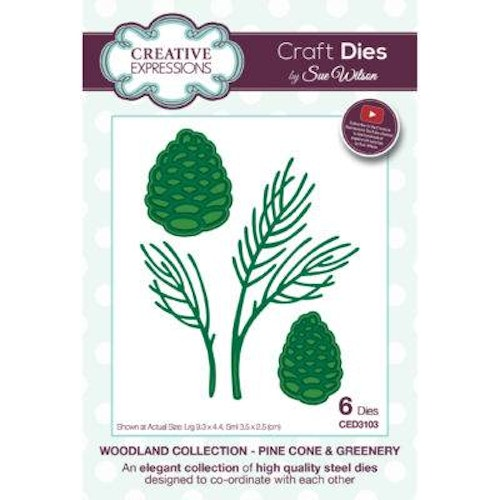 Creative Expressions Die, CED3103, pine cone and green