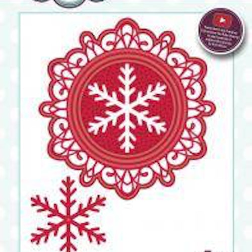 Creative Expressions Die, CED3077, snowflake frame