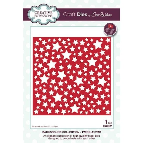 Creative Expressions Die, CED3127,  Background Twinkle Star