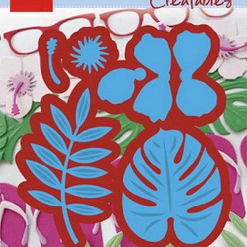 Marianne Design Die - LR0478 flower and leafs