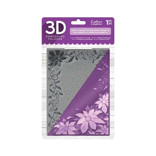 Crafters Companion3D Embossing Folder - pretty pionsettia
