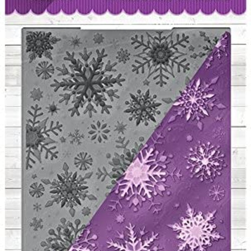 Crafters Companion3D Embossing Folder - sparkling snowflakes