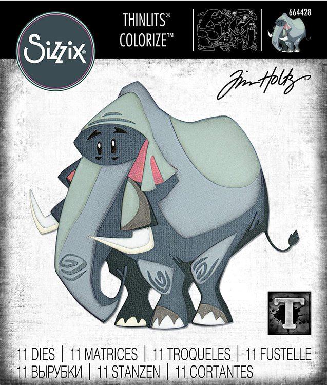 664428 Tim Holtz Sizzix Thinlits Die Set- clarence