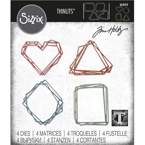 664414 Tim Holtz Sizzix Thinlits Die Set- geo frames