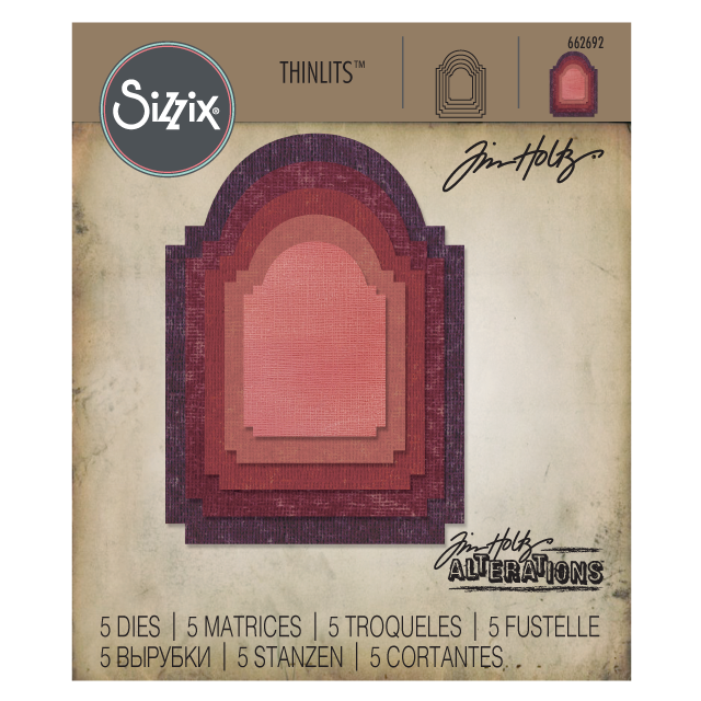 662692 Tim Holtz Sizzix Thinlits Die Set- stacked archway
