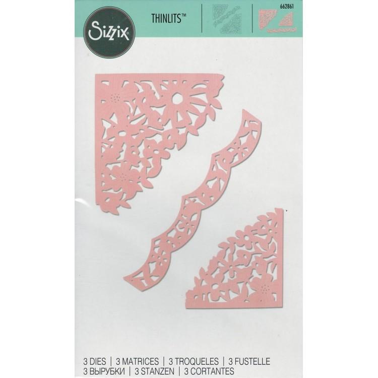 662861 Sizzix Thinlits Die Set- decorative corners