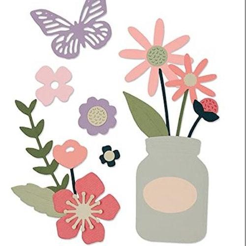 662514 Sizzix Thinlits Die Set- garden florals