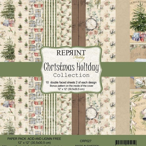Reprint 12x12 - Christmas Holiday collection pack
