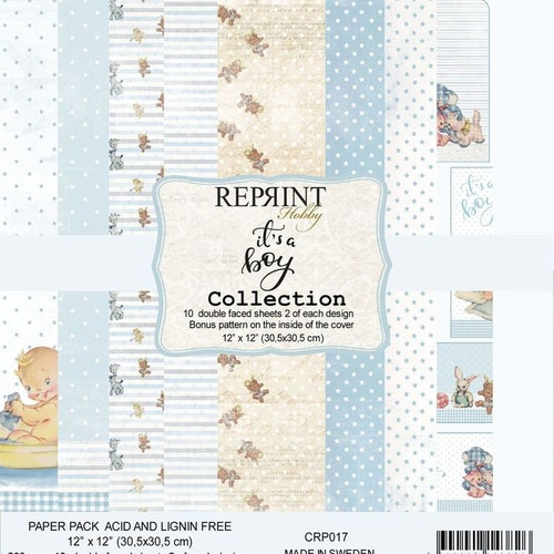 Reprint 12x12 - It´s a Boy collection pack