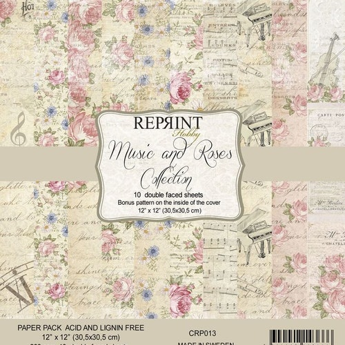 Reprint 12x12 - Roses & Music Collection Pack