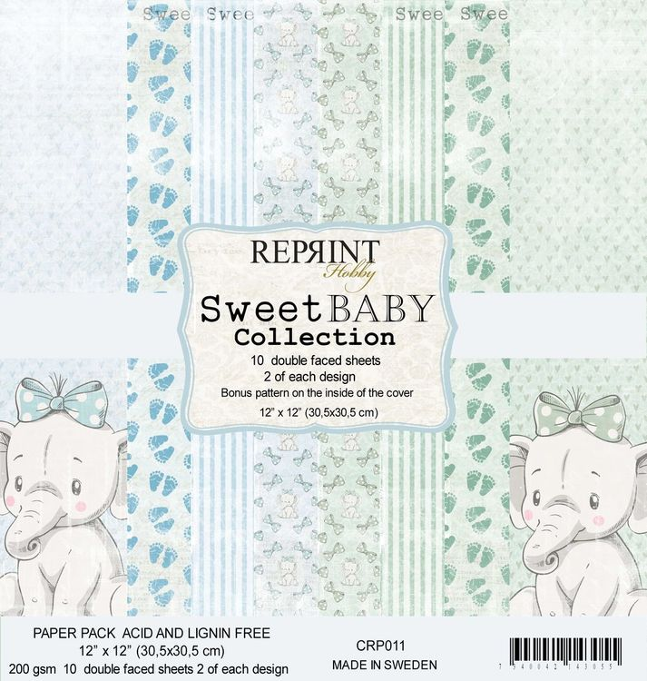 Reprint 12x12 - Sweet Baby Blue Collection Pack