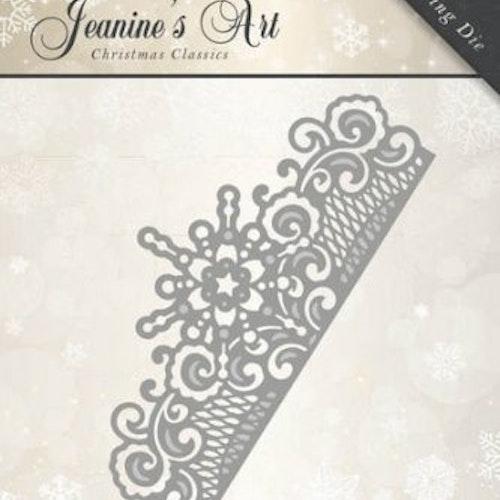 Jeanines Art Dies - Snowflake border JAD10008