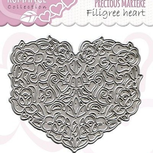 Precious Marieke Die - filligree heart PM10027