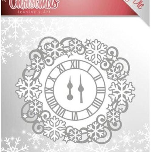 Jeanines Art Dies - lovely clock JAD10080