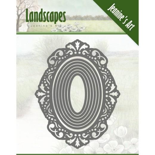 Jeanines Art Dies - frame oval JAD10052