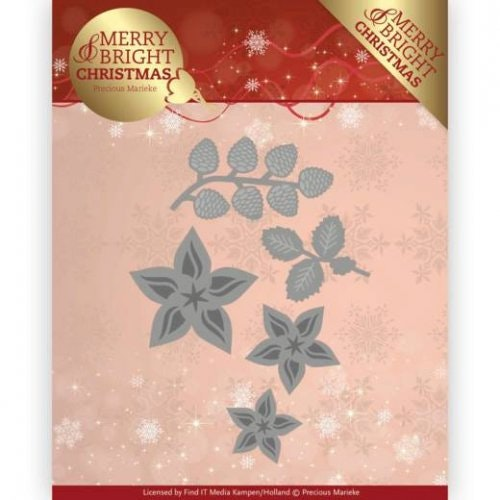 Precious Marieke Die -   christmas florals PM10132