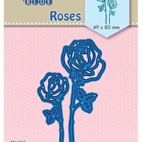 Nellie Snellen Die Blue - Roses