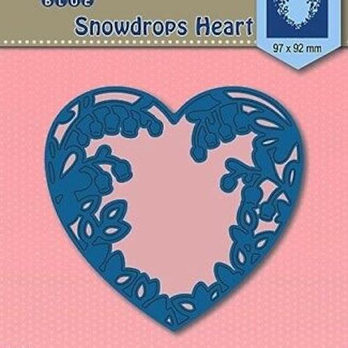Nellie Snellen Die Blue - Snowdrops heart
